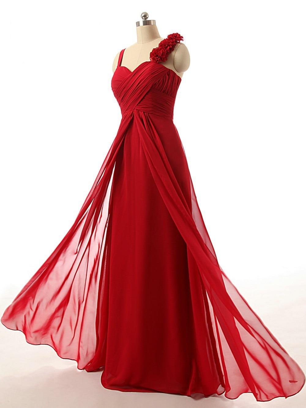 2016 Hot Bride maid two shoulder coral burgundy purple blue black colored chiffon long bridemaid party gown   bridesmaid     dresses