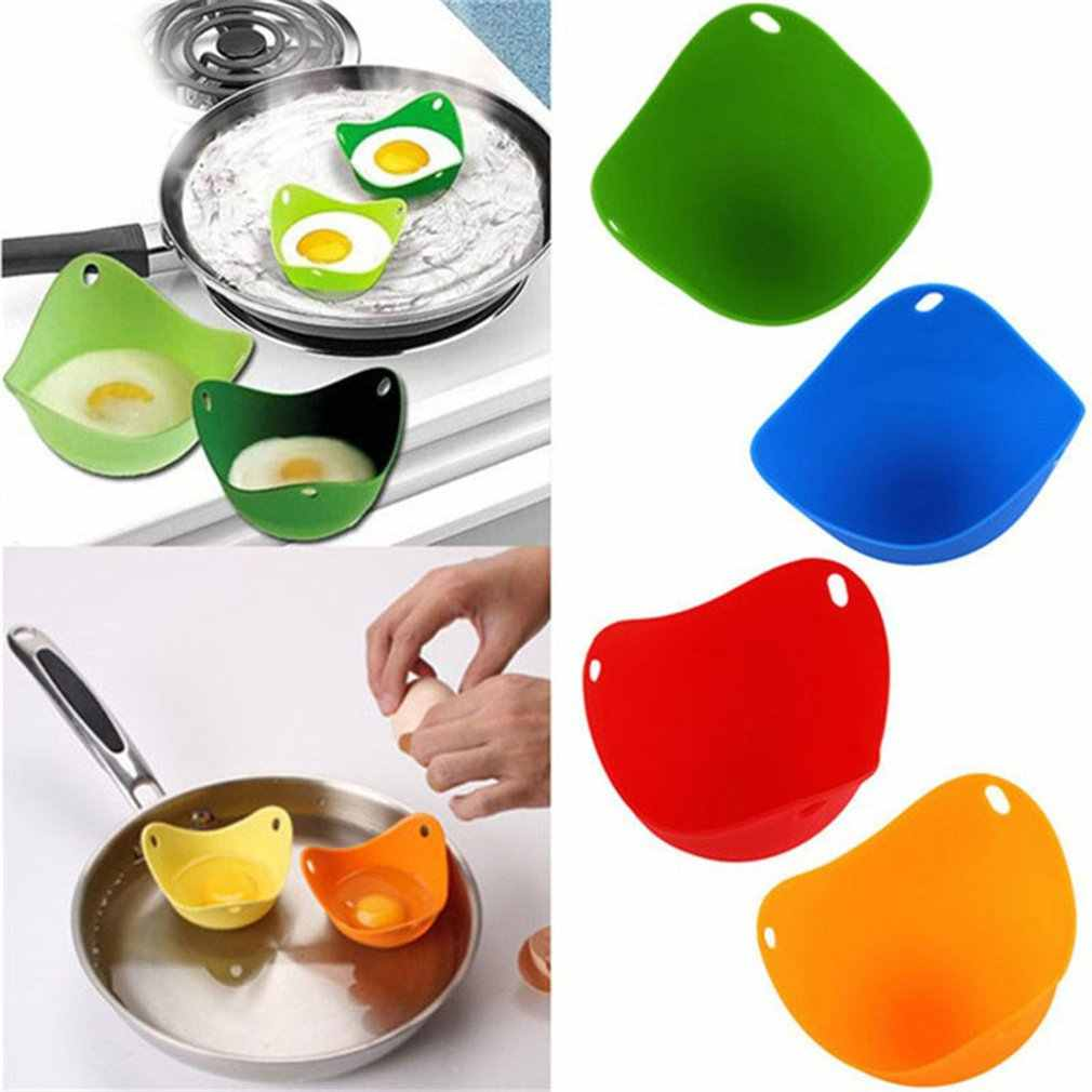 Poach Egg Cookware Mould Handy Pods Tool Kitchen Cup Cook Poacher Silicone Poached Baking Egg Cooker