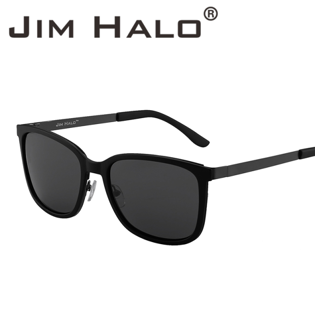 4fbf35dcf3 Jim Halo Lightweight Vintage Oversized Polarized Sunglasses Large Gradient  Lens Square Frame Women Men Gafas Fashion