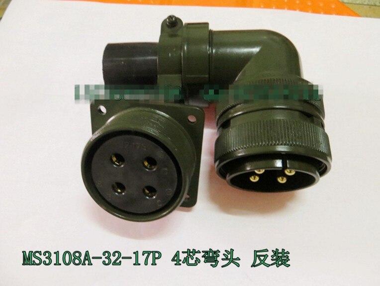 Original new 100% 5015 MS3108A32-17P MS3102A32-17S 4 core American Standard aviationplug bent waterproof connector