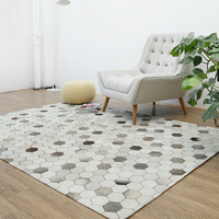 Genuine Cowhide Patchwork Rug For Living Room Bedroom Extra Large 200*300cm Handmade For 100% Natural Cowhide Carpet