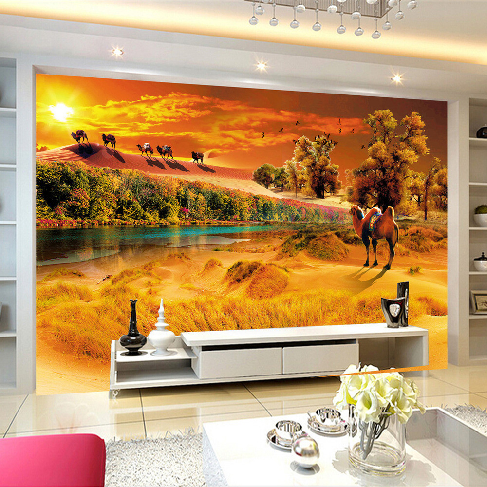popular desert wall mural buy cheap desert wall mural lots from custom photo wall paper modern minimalist desert nature landscape hd photography background living room wall mural