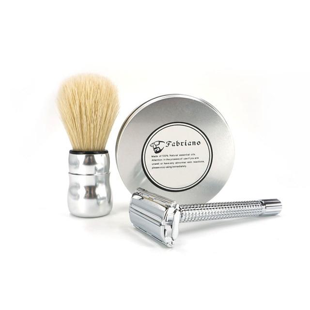 Proffessional 3 in 1 Shaving Sets for Men Badger Hair Brush+ 100g Shaving Cream Top Quality Shaving Barber Razor Luxury Gift