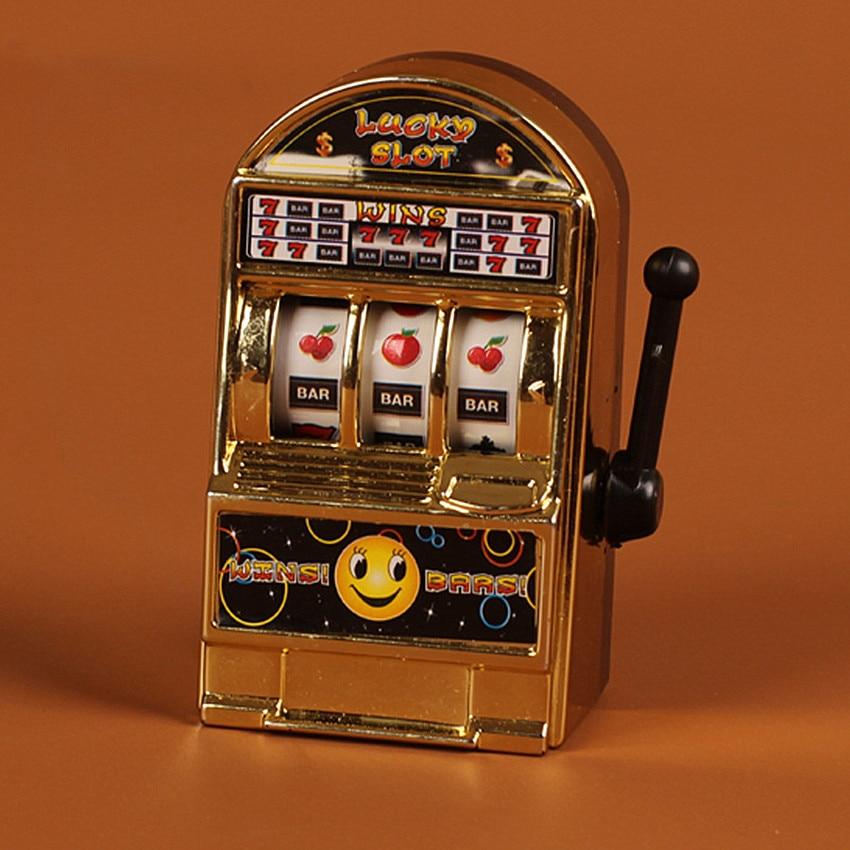 1Piece Casino Lucky Jackpot For Fun Birthday Gift Children' S Fruit Slot Machine Mini Toy Funny Gags Practical Jokes Toy