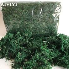 350g/bag Keep dry real silk Flower green moss wedding plants vase l turf accessories for flowerpot decoration
