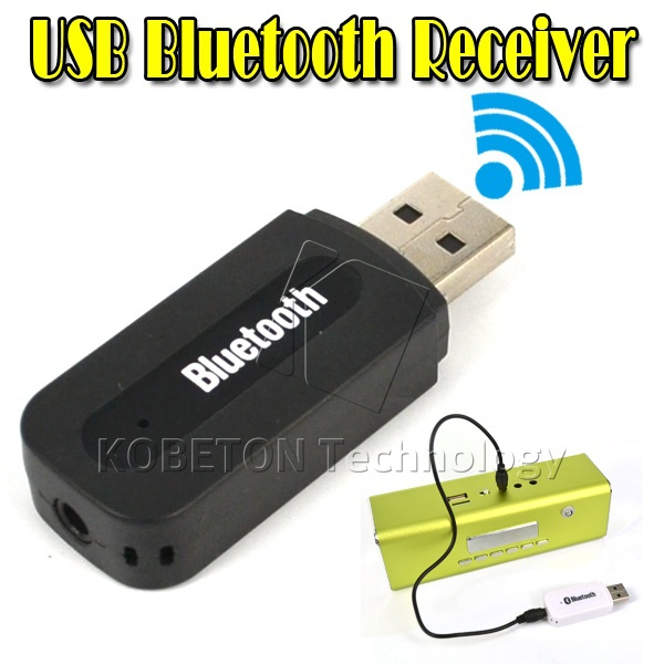Kebidu USB Wireless Bluetooth Stereo Music Receiver 3.5mm Jack Audio Cable For Iphone 6 Plus For