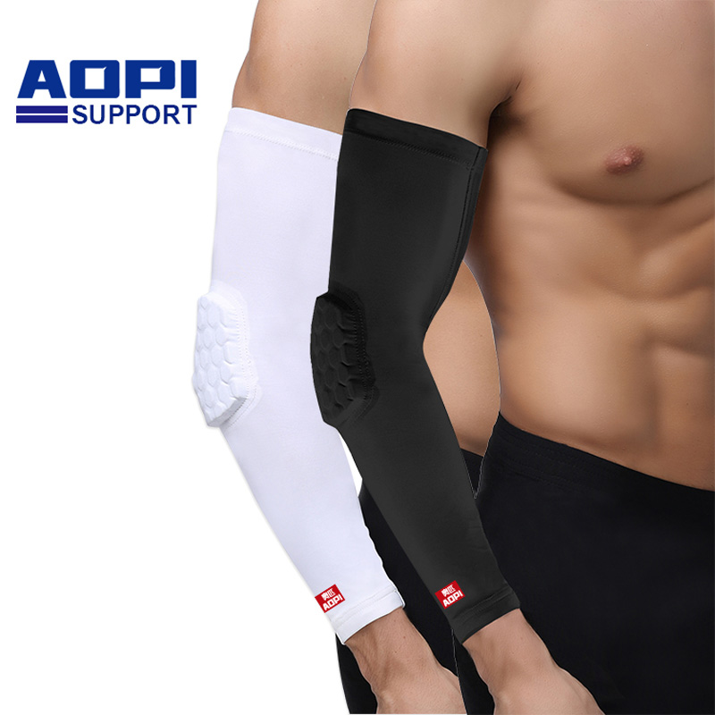 AOPI 1pcs Basketball Barcer Bar Armguards Sunscreen Sports Protective Forearm Elbow Pad Sleeve Arm Warmers for Sports Cycling