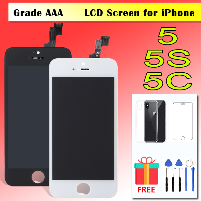 AAA+ LCD for <font><b>iPhone</b></font> <font><b>5</b></font> 5S 5C <font><b>Ecran</b></font> Glass Display Touch Screen Tela Digitizer Assembly Replacement Pantalla Module Free Gifts image
