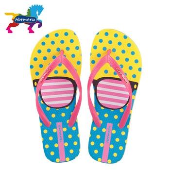 Hotmarzz Women Fashion Flip Flops Beach Slippers Summer House Shoes Woman Flat Sandals Glasses Print Female Home Slippers 6