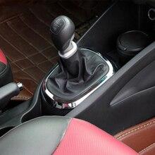 車のスタイリング、absクロームトリム車のギアヘッドステッカースタイルギアシフト装飾カバー起亜リオK2 2011 2012 2013 2014