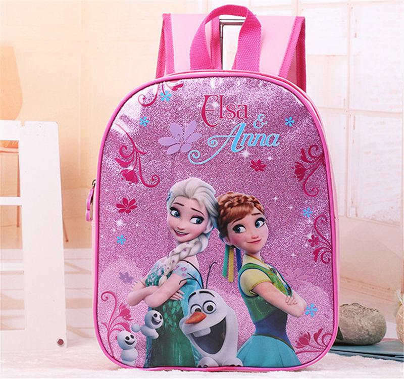 Disney Cartoon Princess Children Backpack Kindergarten Bag Frozen Elsa Girl Boy Car Gift Bag For School Student Storage Book