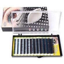Colorful False Eyelashes Individual Eye Lashes Mixed Type Length Colors Eyelash Glamour 0.12mm C Curl Free Shipping