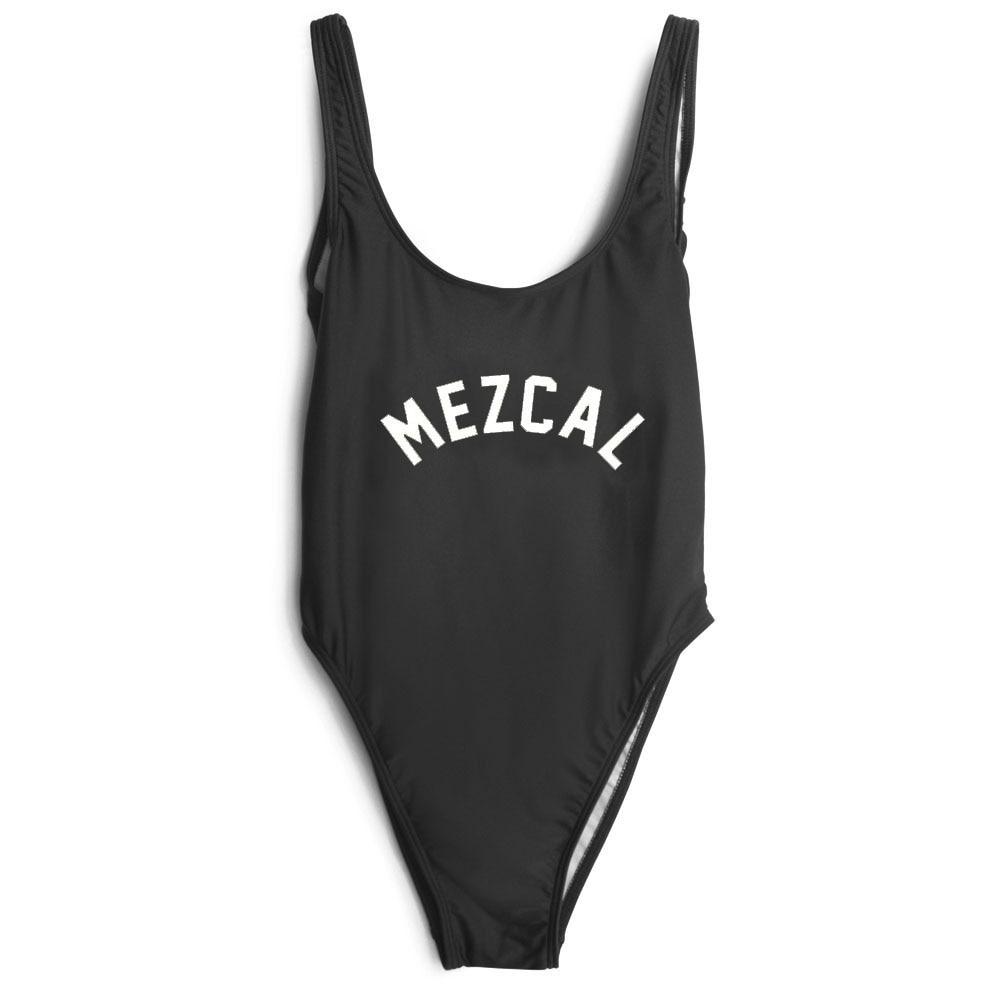 Women Sexy MEZCAL Bodysuit One Piece Swimsuit Swimwear Style Swimwear Summer high cut Bathing suit Monokini