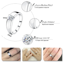 Popular Silver Color Ring Model with Clear AAA Grade CZ Lead & Nickel Ring for Women and Men
