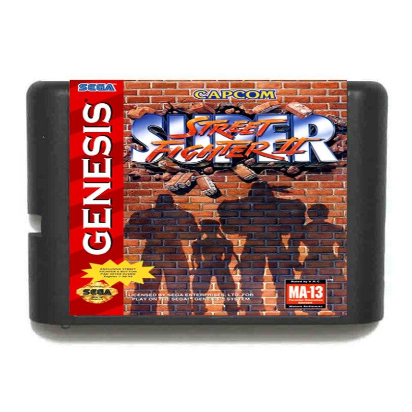 Super Street Fighter II USA Version 16 bit SEGA MD Game Card For Sega Genesis game cartridge fire shark for 16 bit sega megadrive genesis game console