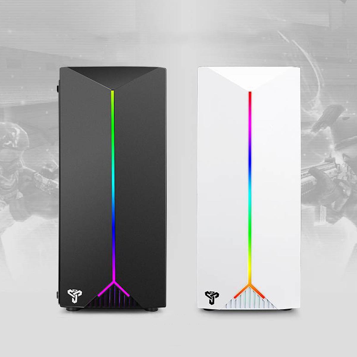 LEORY Gaming Pc boîtier acrylique Transparent panneaux latéraux concours électrique jeu avec RGB ceinture support USB3.0 4 ventilateur de refroidissement - 5