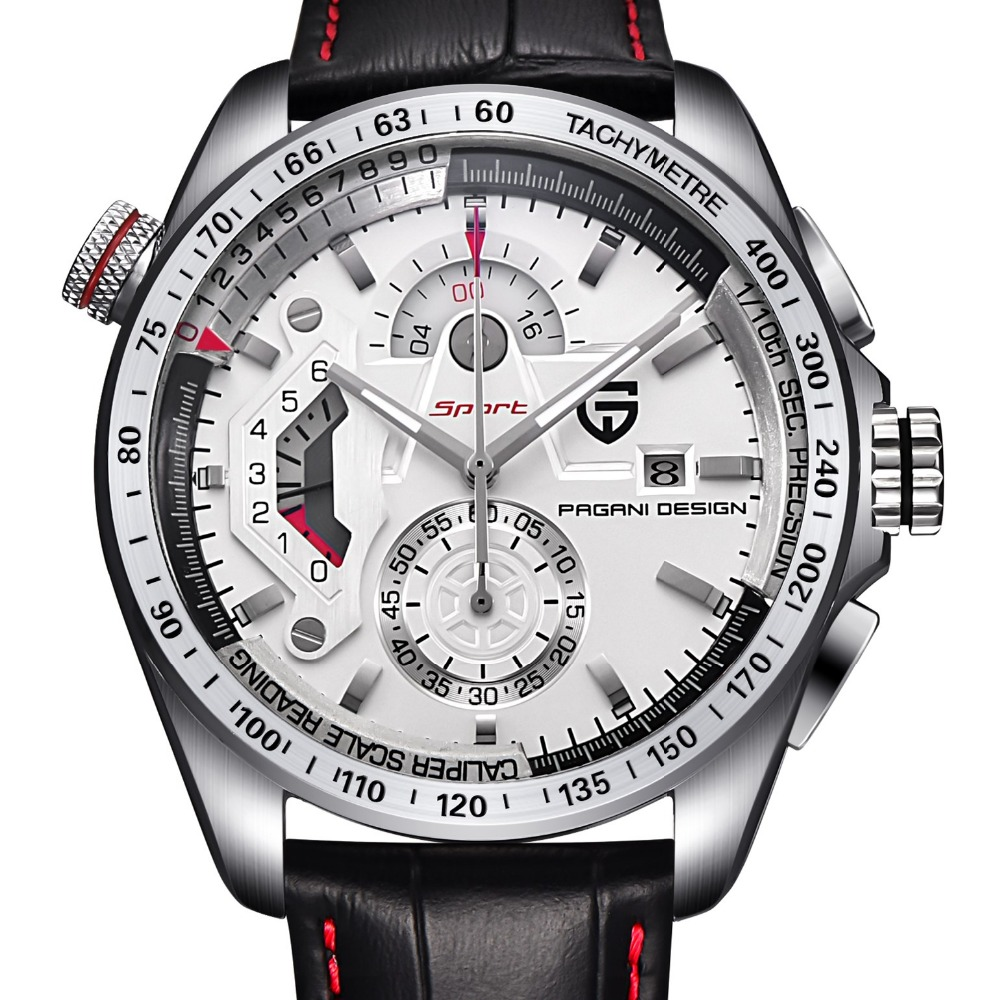 Luxury Brand PAGANI DESIGN Chronograph Sport Watch Quartz Japan 1