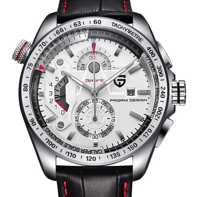 Reloj de lujo deportivo de cuarzo con acero inoxidable