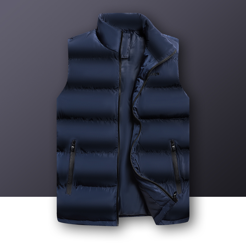 2019 Autumn Winter Casual Vest Male High Quality Sleeveless Jacket Mens Plus Size Warm Waistcoat Solid Outwear Vest Veste Homme