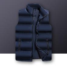 2020 Autumn Winter Casual Vest Male High Quality Sleeveless Jacket Mens Plus Size Warm Waistcoat Solid Outwear Vest Veste Homme