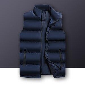 Image 1 - 2020 סתיו החורף מזדמן אפוד זכר באיכות גבוהה ללא שרוולים מעיל Mens בתוספת גודל חזייה חמה מוצק להאריך ימים יותר אפוד Veste Homme
