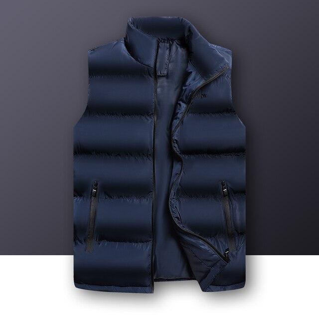 2020 סתיו החורף מזדמן אפוד זכר באיכות גבוהה ללא שרוולים מעיל Mens בתוספת גודל חזייה חמה מוצק להאריך ימים יותר אפוד Veste Homme
