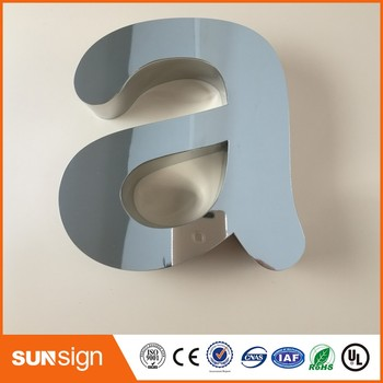 Glossy Mirror Polished Stainless Steel Channel Letters Sign