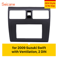Seicane Great 2Din 173*98mm Car Radio Fascia for 2009 Suzuki Swift with Ventilation Audio Frame Panel Face Plate Cover Trim