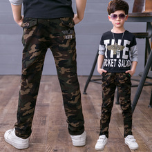 Boys pants printed camouflage trousers spring and autumn new big children sports children's clothing