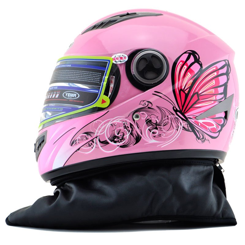 Us 50 0 24 Off Women S Pink Butterfly Full Face Motorcycle Helmet Turbo Motorbike Motocross 827 Knight Racing Helmets Hot Sell In Helmets From