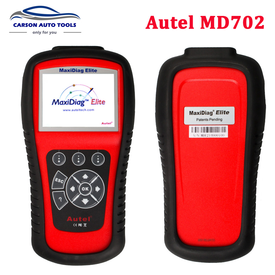 100 original autel maxidiag elite md702 with data stream function for 4 system update internet