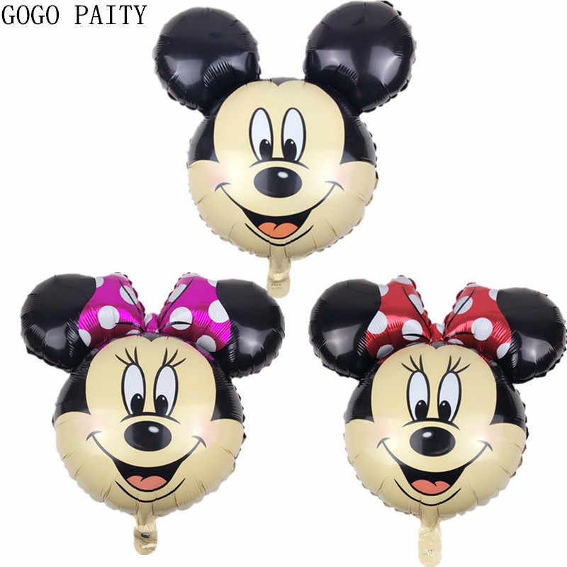 GOGO PAITY Free shipping 1pcs New Mickey & Minnie aluminum balloons decorated party balloons wholesale children's toys