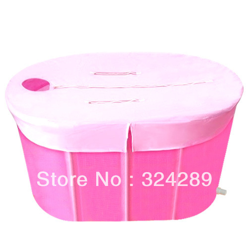Valentine's Wholesale Retail Adult Big Size 110*65*60 double folding bathtub / bath tub /with cover and cushion for lover Gift