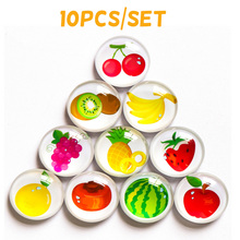 10Pcs Crystal Glass Fridge Magnet Souvenir Vegetables Fruits Magnets for Refrigerators Fridge Magnet Decor for Kids