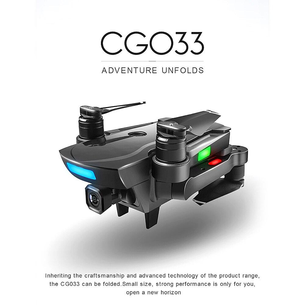 CG033 Dron moteur sans brosse Servo 5G 1080 P RC quadrirotor GPS positionnement Altitude maintien Drone RC retour automatique 20 minutes temps de vol HD