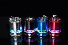 1 Stück Elektrische Licht LED 63 MM Aluminum Grinder Crusher Gewürzmühle Cracker Shisha Rauchen zubehör Tabakmühle