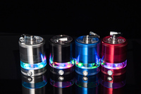 1 Pc Elektryczne Światło LED 63 MM Aluminium Metal Herb Grinder Crusher Akcesoria Szisza Palenia Tytoniu Młynek Młynek Cracker