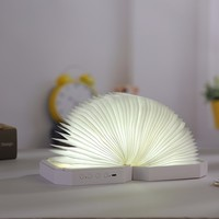 LED Bluetooth Speaker Folding Organ Light Desk Lamp Dimming USB Rechargeable Foldable Book Lamp Design Night Light