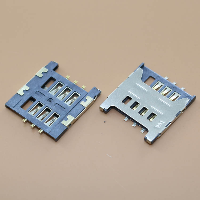 YuXi 1pcs/lot <font><b>Sim</b></font> <font><b>Card</b></font> socket Slot Holder Tray Replacement Parts for <font><b>Samsung</b></font> GT E1200M E1200 I519 I939D I939i image