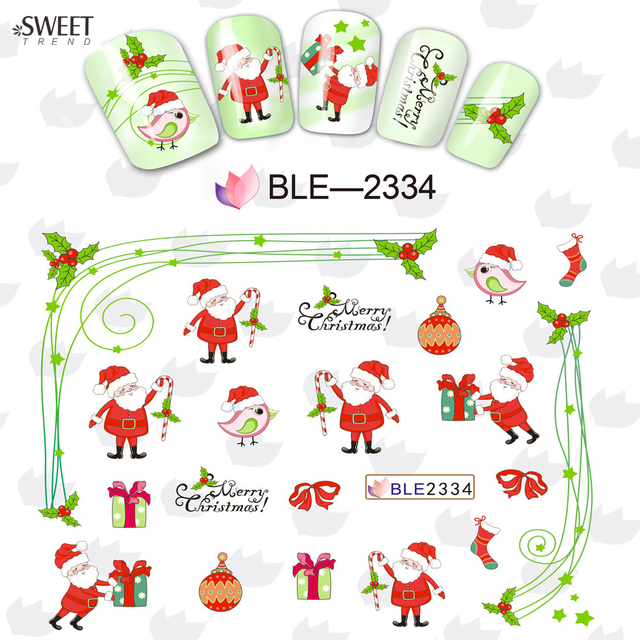 Christmas Water Transfer Foil Nail Art Sticker