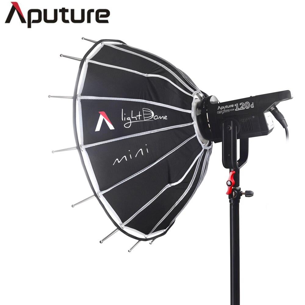 Aputure led studio light kit LS C120D+Light dome mini Kit professional cob studio light film shooting light with V-mount plate aputure aputure vs 2 kit v screen 7 lcd field adv monitor kit black