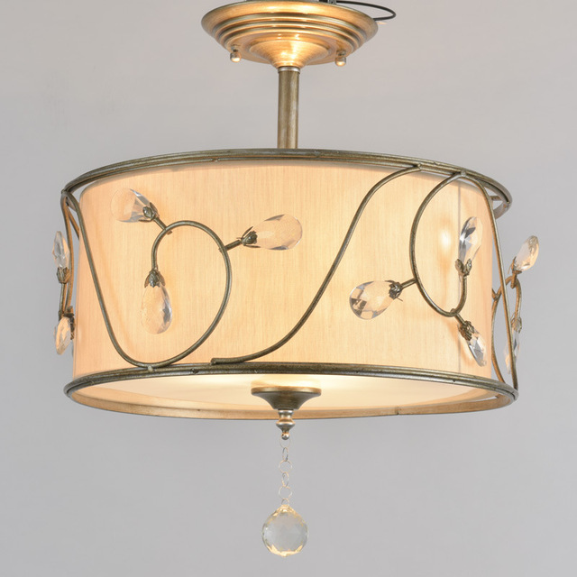 Modern drum shade lustre crystal chandelier fabric ceiling lamp home modern drum shade lustre crystal chandelier fabric ceiling lamp home decorative flushmount light fixture for dinning aloadofball Choice Image