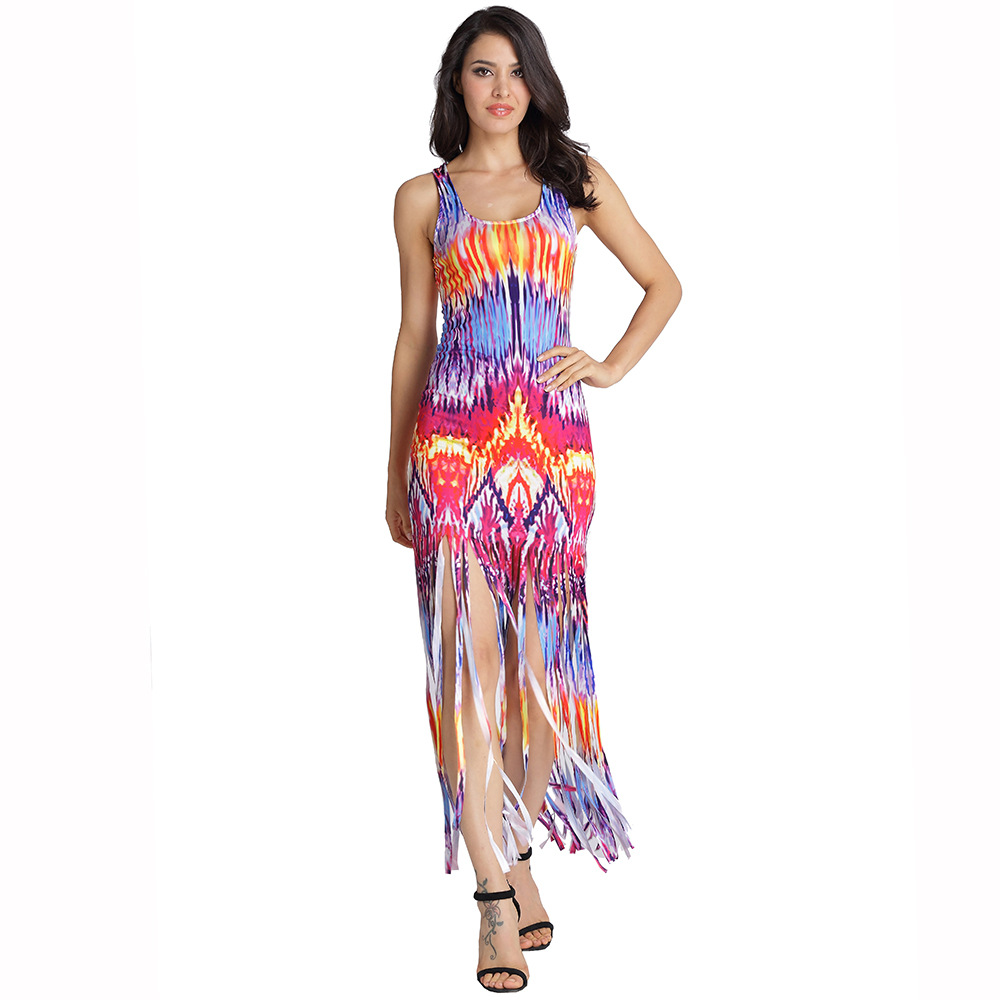 2019 Summer Female DressFashionable Sexy Women's Wear Sleeveless Vest Beach Women's Dress