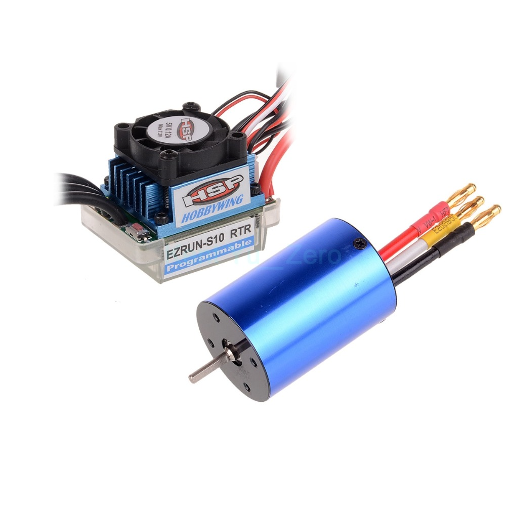 RC HSP 107051 (03302) 540 BRUSHLESS Motor 3300KV + 37017 (03307) ESC 45A 2S, For a variety of models цена