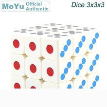 MoYu MoFangJiaoShi Dice 3x3x3 Magic Cube 3x3 Heat Thermal Transfer Print Cubo Magico Professional Neo Speed Puzzle Toys