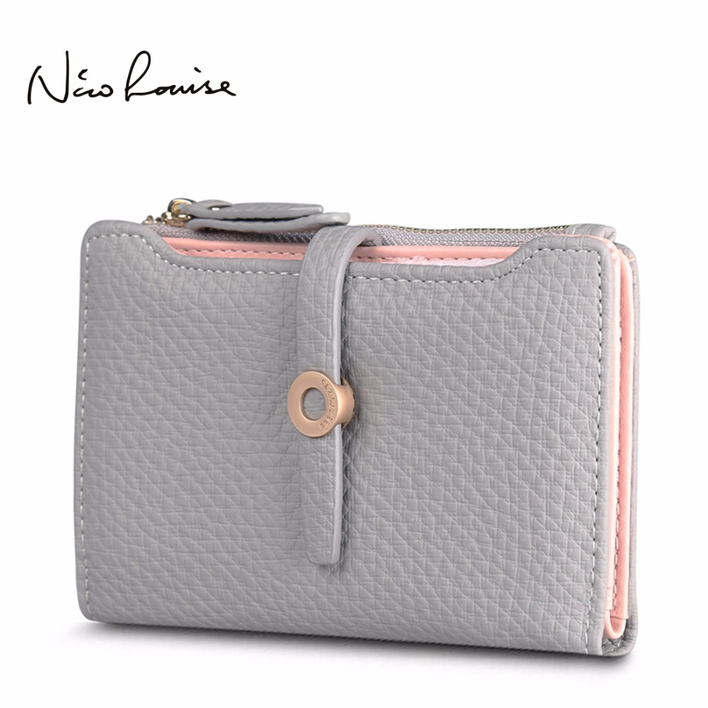 Top Quality Latest Lovely Leather Short Women Wallet Fashion Girls Change Clasp Purse Money Coin Card Holders wallets Carteras 2017 hot sale lovely leather long women wallet fashion girls change clasp purse money coin card holders wallets carteras