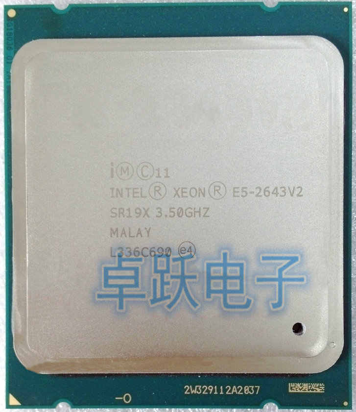 E5-2643 V2 Original Intel Xeon E5-2643V2 CPU 6-cores 3.50GHZ 25MB 22nm LGA2011 E5 2643V2 processor  free shipping