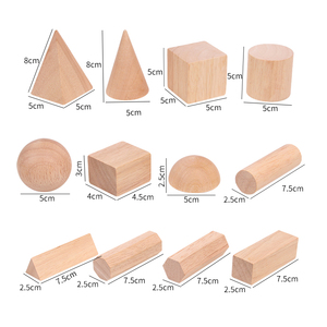 Image 5 - 12/15 pièces couleur bois géométrie combinaison aides pédagogiques enfants éducation précoce blocs de construction 3D jouets éducatifs