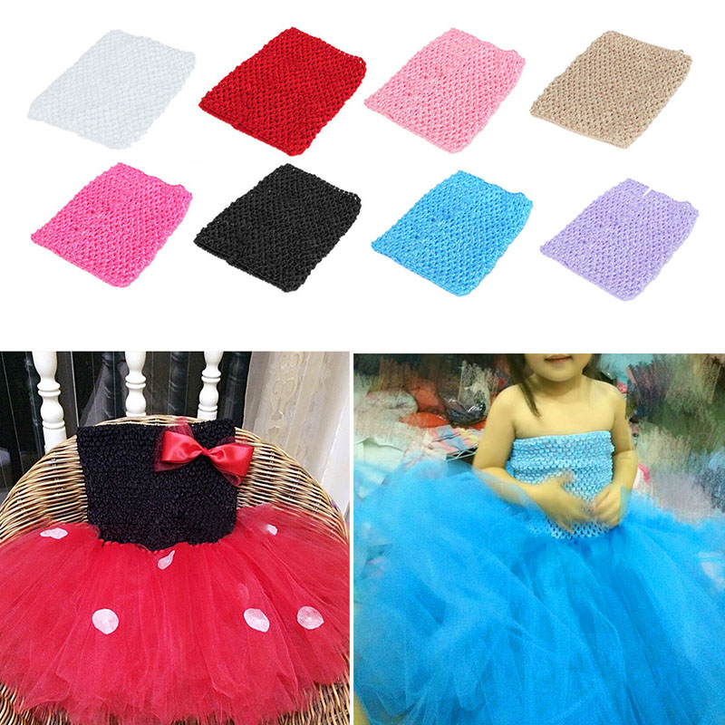 "New Cute 1Pc 12"" Crochet Tube Top Elastic Waistband Headband Hair Band Girls Tutu Skirt"