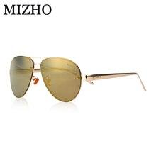 MIZHO розовое золото Vidrio Роскошные звезды aviadors Для мужчин Солнцезащитные очки поляризованные Для женщин для вождения Брендовая Дизайнерская обувь UVA Óculos De Sol зеркало 2017